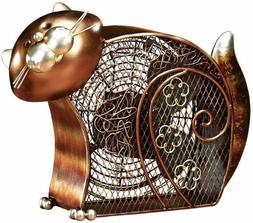 DECO BREEZE Fan, Decorative Fat Cat Kitty Figurine Table Fan