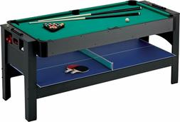 Fat Cat Original 3-In-1, 6-Foot Flip Game Table (Air Hockey,