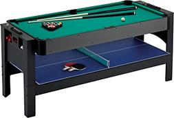 Fat Cat Original 3-in-1, 6-Foot Flip Game Table Air Hockey,