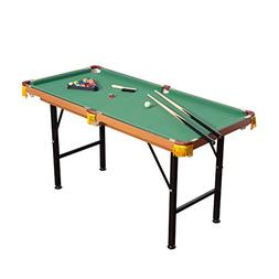 HomCom Folding Miniature Billiards Pool Table w/ Cues and Ba