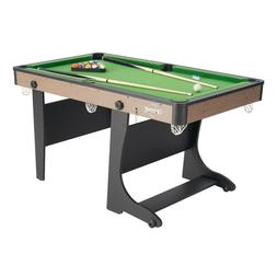 """Folding Pool Table 60"""" Steady Indoor Billiard Game W/ Comple"""