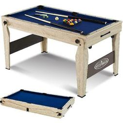 Folding Pool Table With Cue Set And Accessory Kit, Barringto