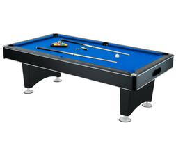 NEW 8' FOOT DELUXE HIGH QUALITY POOL TABLE w/ BLUE FELT TOP
