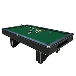 Harvil Galaxy Slate Pool Table 8-Foot with Green Felt Includ