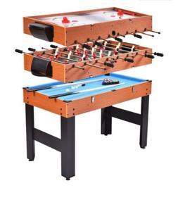 "Giantex 48"" 3-In-1 Multi Combo Game Table Foosball Soccer Bi"