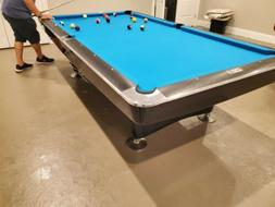 Brunswick Gold Crown I Pool Table 9 FOOT restored in black l