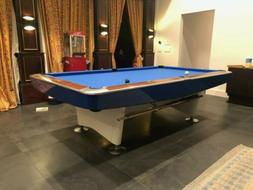 Brunswick Gold Crown I Pool Table 9 FOOT restored in white a