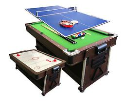simba usa 4 in 1-7Ft Green Pool Table + Air Hockey + Tennis