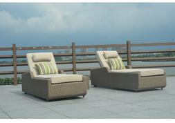 Hathaway 3 Pcs Outdoor Patio Furniture Lounge Set Two Daybed