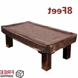 Heavy Duty Billiard 8 ft foot Camel Fitted Leatherette Pool