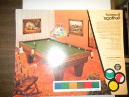 Vintage Brunswick Heritage Pool Table 8x10 Advertising Sheet