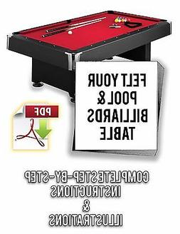 How to refelt/resurface/cover any pool table - PDF Download