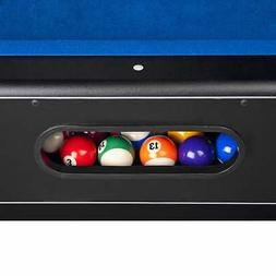 Hathaway Hustler Pool Table, Blue, 7-Feet