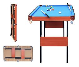 Indoor Folding Pool Snooker Billiard Game Table With Balls C