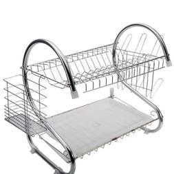 Marketworldcup Kitchen Storage Dish Cup 2-Tier Dryer Drying