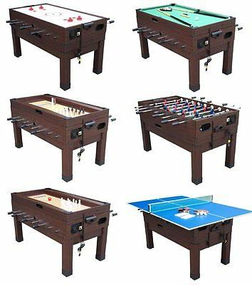 13 in 1 game table in black
