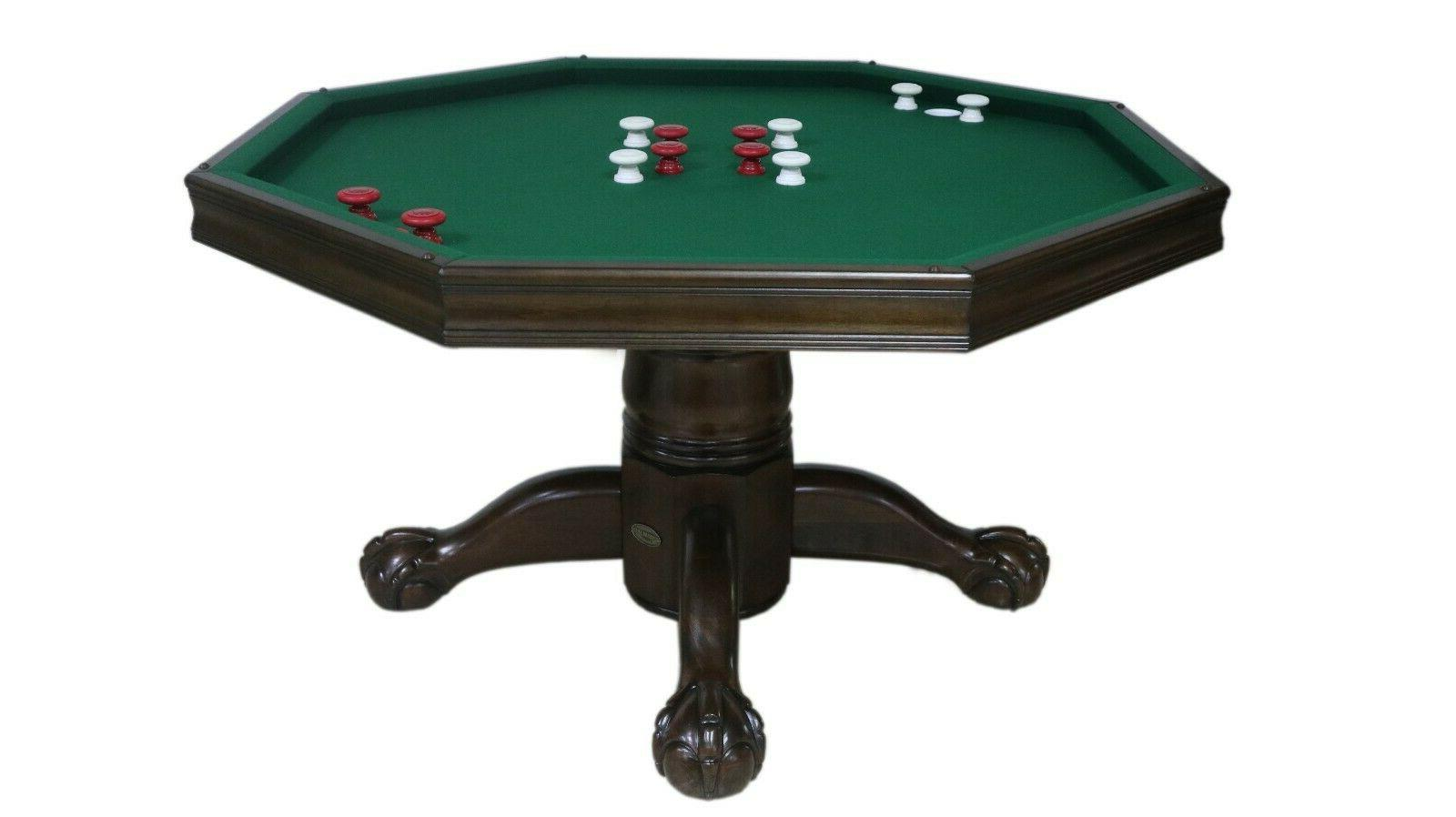 """3 1 48"""" BUMPER POOL, POKER & DINING COMBO GAME CHAIRS ESPRESSO"""