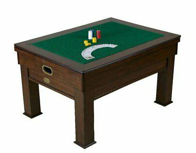 """3 in COMBINATION SLATE POOL TABLE CARD/POKER """"THE"""