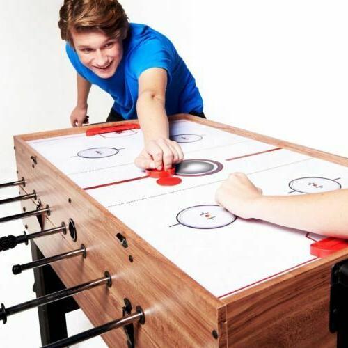 3-In-1 Combo Billiards Hockey Pool Foosball