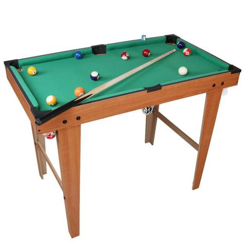 "36"" Portable Billiard Pool Table Top Indoor Game Balls Cues"