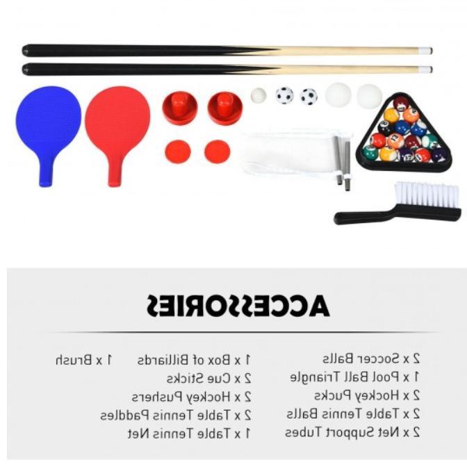 4 Game Hockey Billiard Fun -
