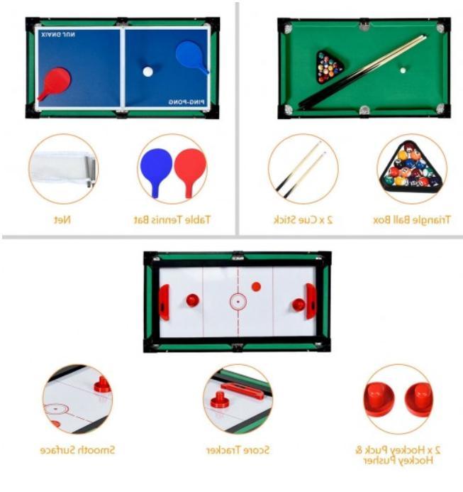 4 In Game Hockey Billiard Fun From US