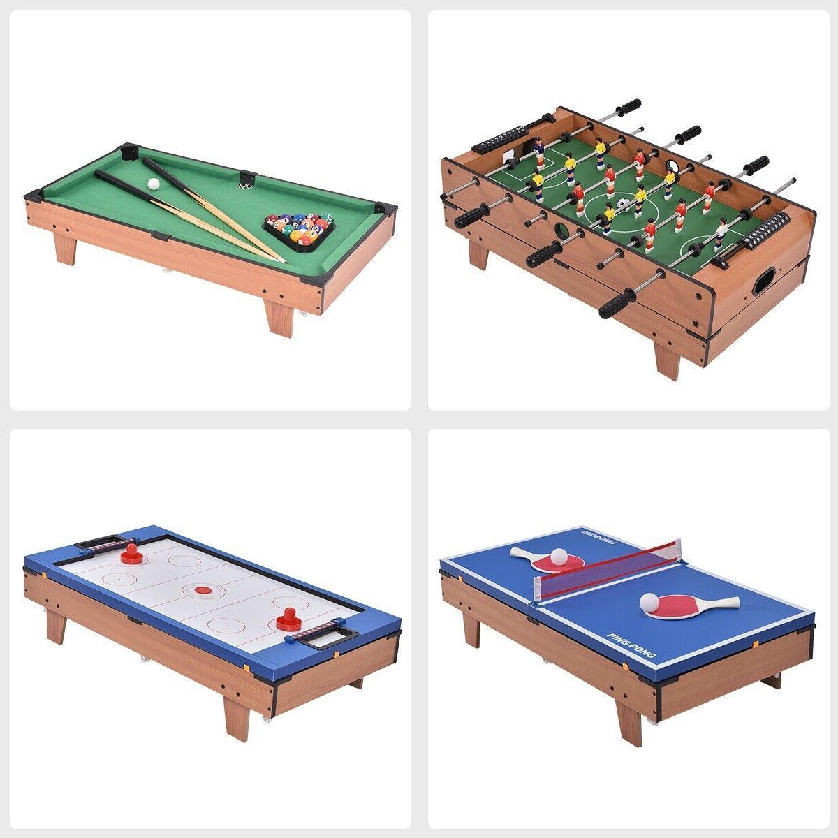 4 Game Table Billiards/Pool, Foosball, Hockey, Tennis