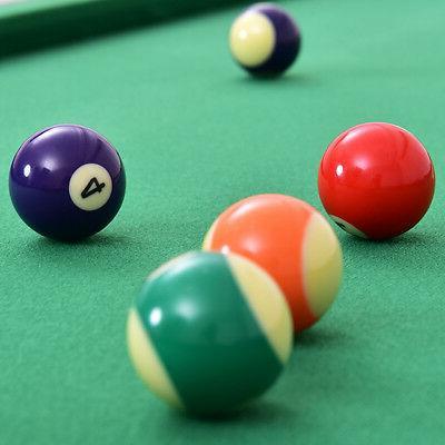 "47"" Billiard Table w 2 Cue Rack Ball"