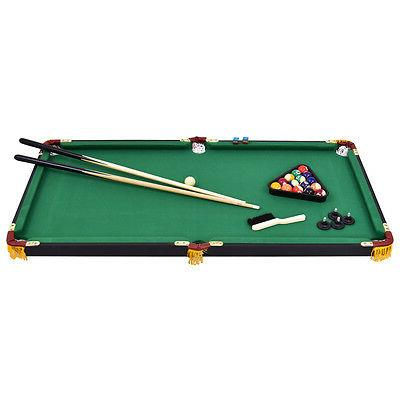 "47"" Pool Table w 2 Cue Rack Ball"