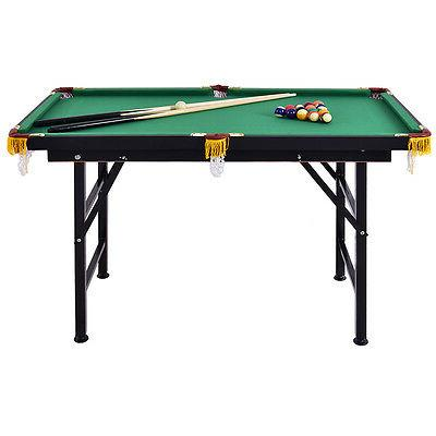 "47"" Billiard Table w 2 Cue Rack Ball Chalk"