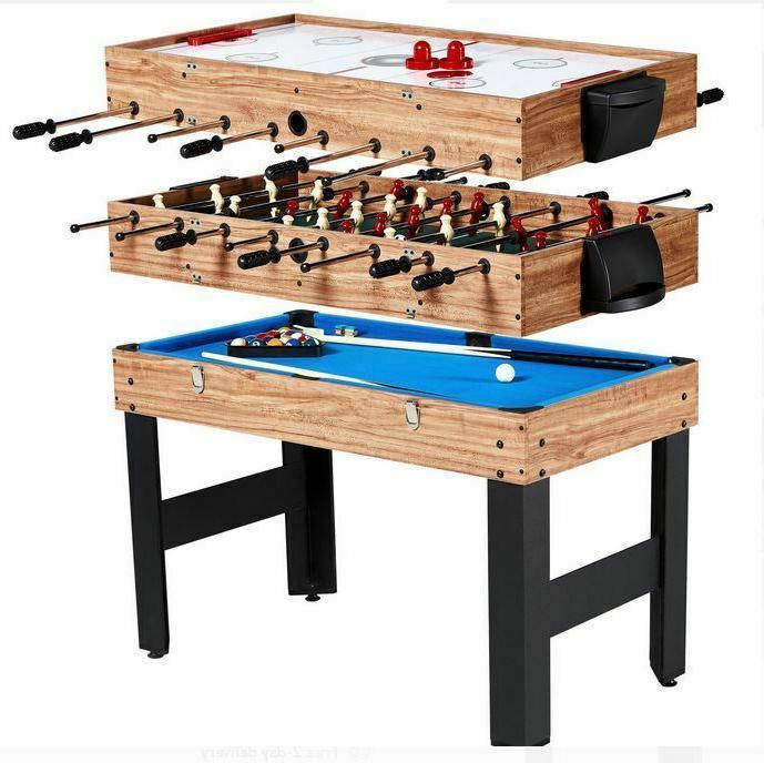48 inch 3 in 1 Combo Pool Hockey Foosball Game Table Multi S