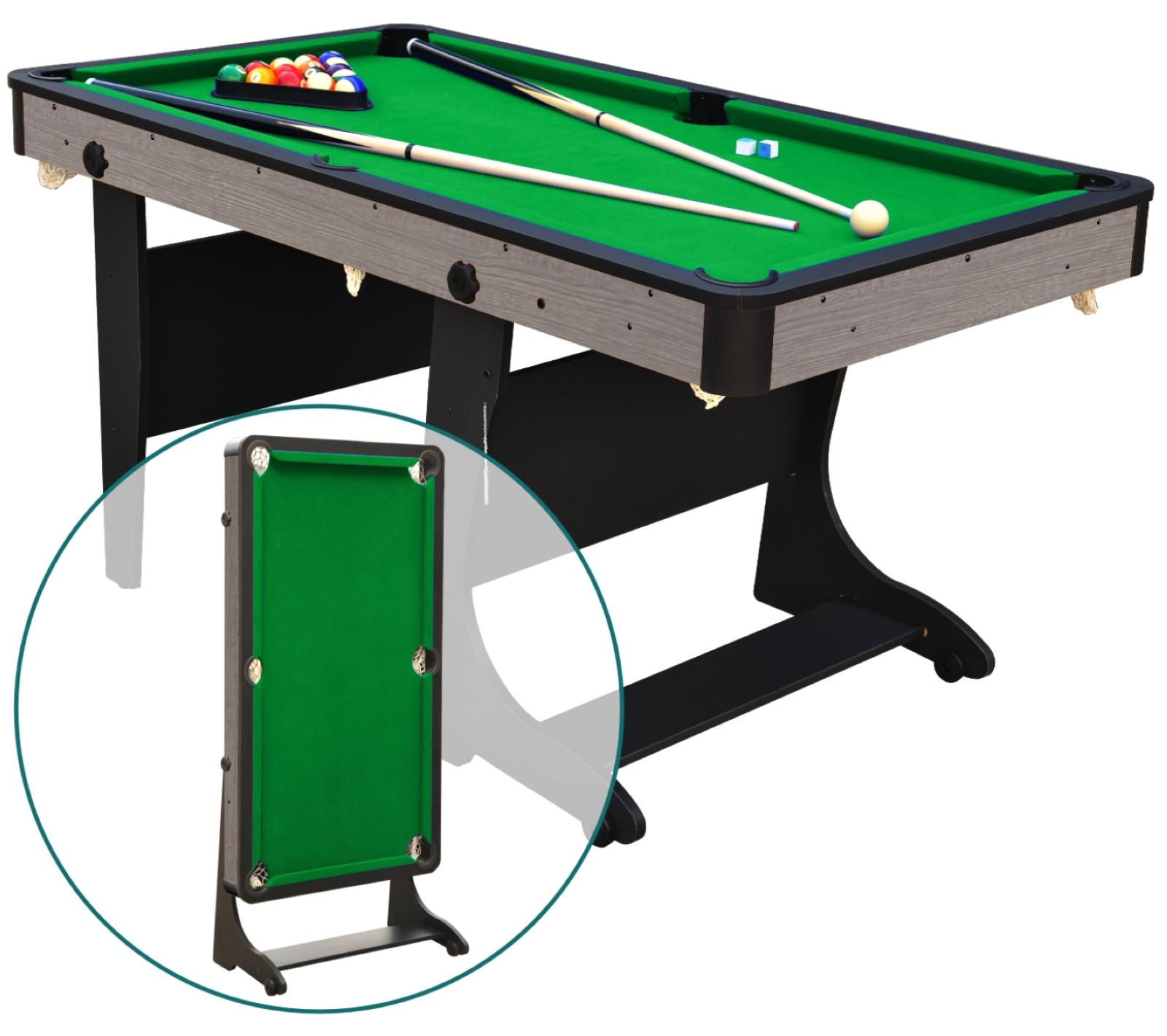 5' Folding Billiard Pool Table Cues Balls Home Game Room Pla