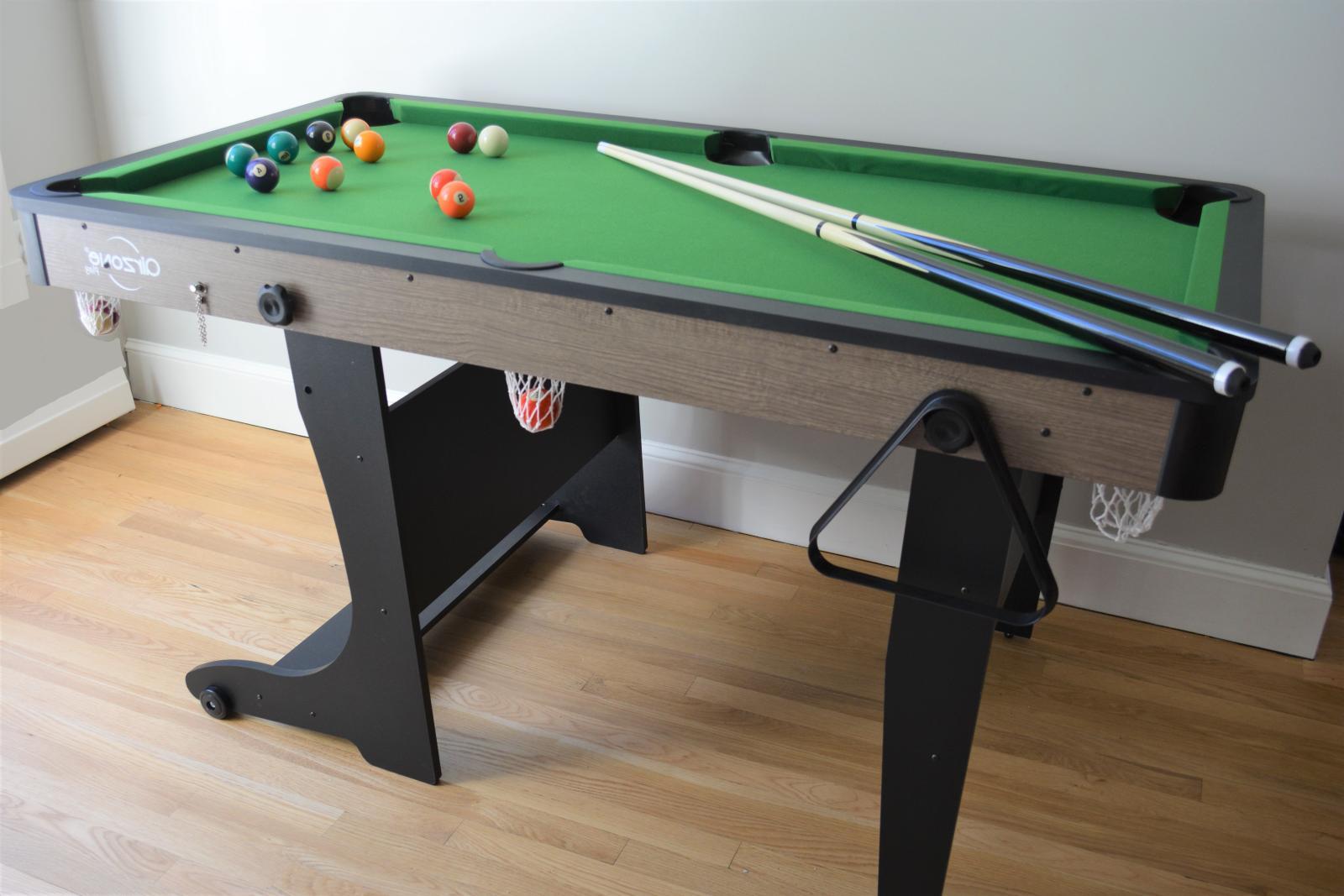 5' Folding Billiard Pool Table Cues Balls Home