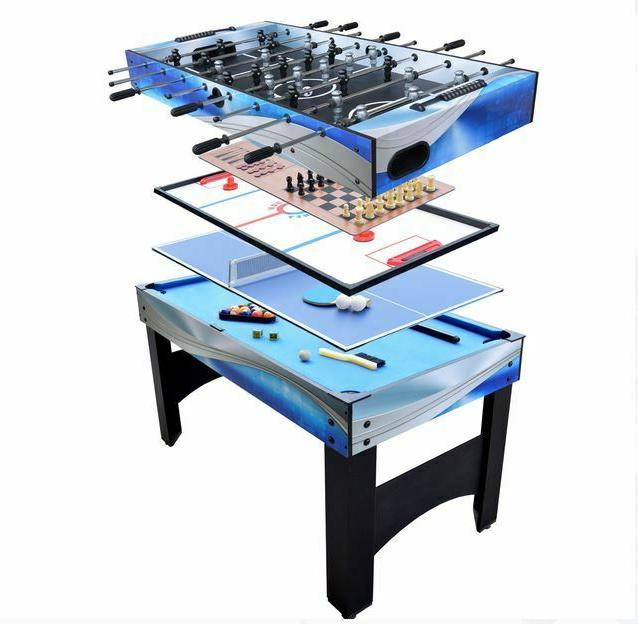 54 Inch Hathaway Matrix 7 in 1 Multi Game Table with Foosbal