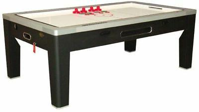 6 1 GAME TABLE HOCKEY~PING PONG~ROULETTE~POKER~DINING BLACK