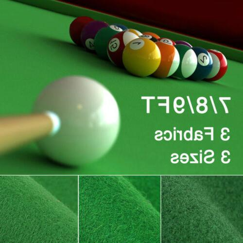 7 8 9 ft worsted pool table