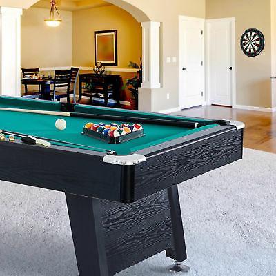 7 Foot Pool Table w/ Cue Sticks, Dartboard
