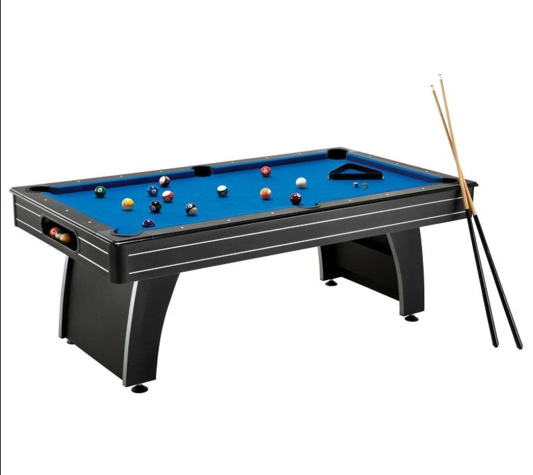 7 ft blue top pool table