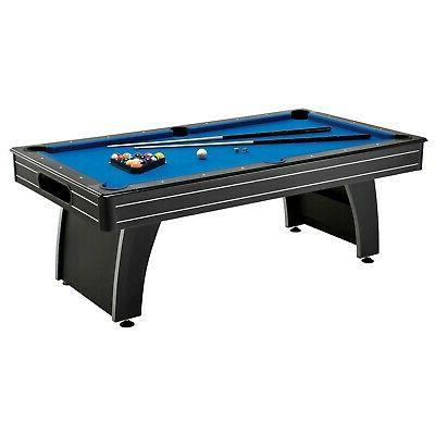 7 Ft Top Pool Table with Cues and Billiard