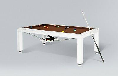 8' LUXURY CONVERTIBLE DINING POOL TABLE Billiard Dining Desk