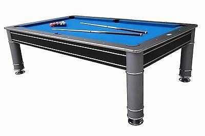 8 foot pool table in black