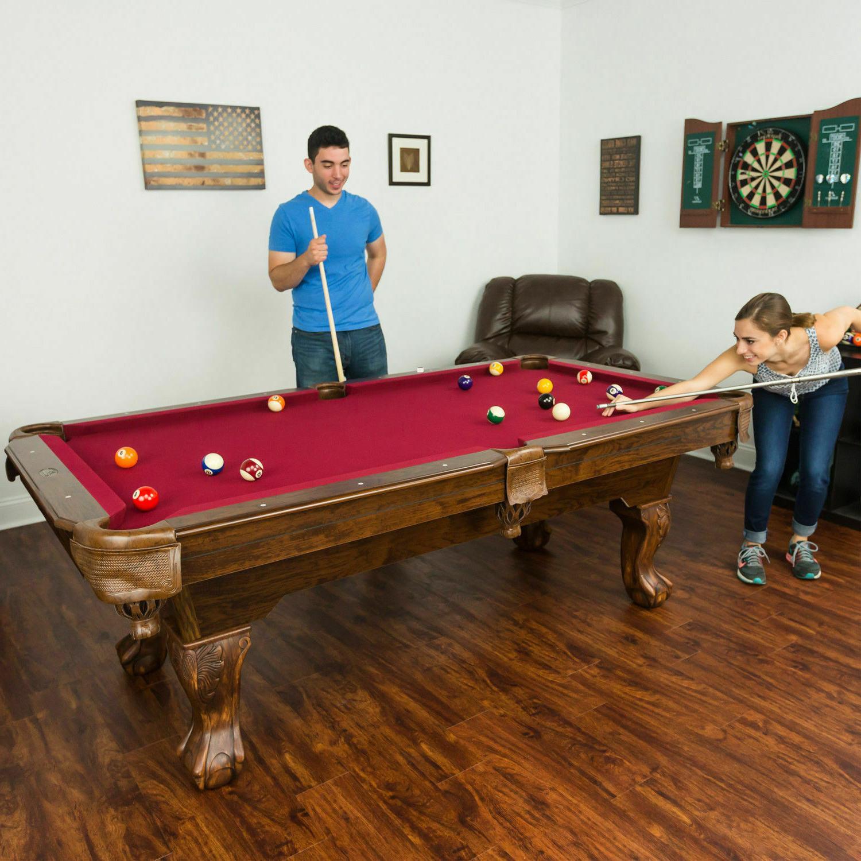 87 pool table billiard billiards set light