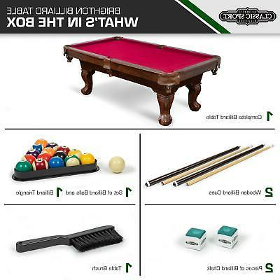 Classic Pool Billiard Cues Balls Chalk Triangle