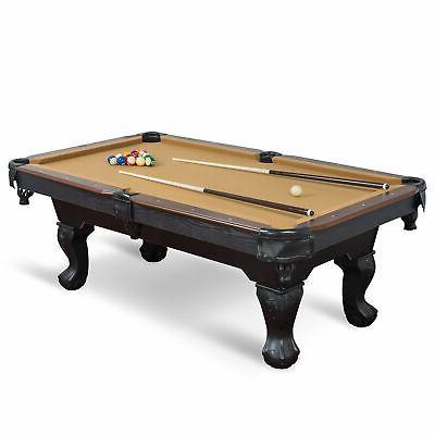 """87"""" Pool Table Billiard Set Light Chalk"""