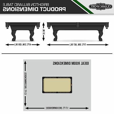 """87"""" Pool Table Billiard Set Light Chalk STOCKS"""