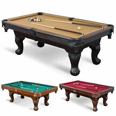"87"" Pool Table Set Balls Chalk Triangle Brush-LIMITED"