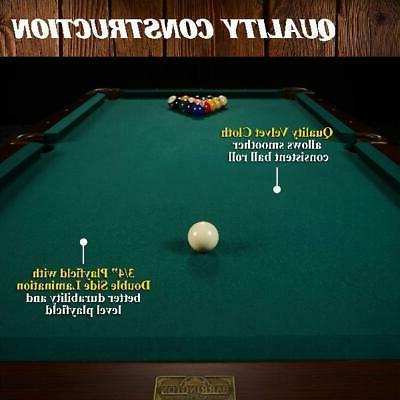 """Billiard Pool w/ Cue Rack 90"""""""