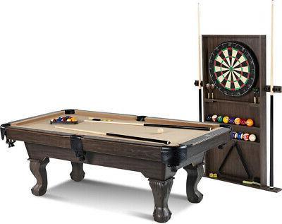 90 Inch Billiard w/ Indoor Set Storage K-818