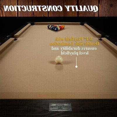 90 Inch w/ Dartboard Game Set Cue Storage
