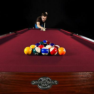 Lancaster Company Inch Classic Pool Table w/ Burgundy